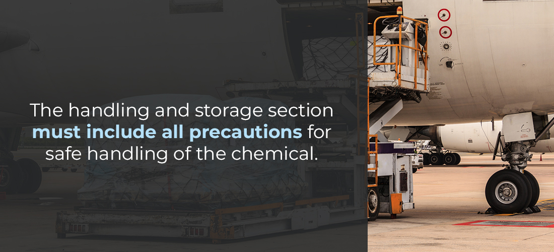 SDS Handling and Storage Section
